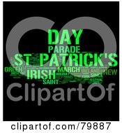 Royalty Free RF Stock Illustration Of A Collage Of Words St Patricks Day Version 3 by MacX #COLLC79887-0098