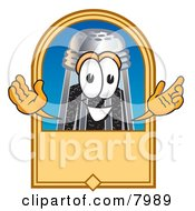 Clipart Picture Of A Pepper Shaker Mascot Cartoon Character With A Blank Tan Label by Toons4Biz