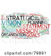 Royalty Free RF Stock Illustration Of A Collage Of Words Strategic Planning Version 3