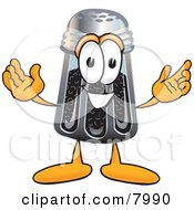 Clipart Picture Of A Pepper Shaker Mascot Cartoon Character With Welcoming Open Arms