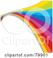 Royalty Free RF Clipart Illustration Of A Background Of A Rainbow Flowing Over White by MilsiArt