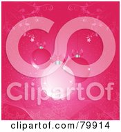 Royalty Free RF Stock Illustration Of A Pink Christmas Background Of Sparkly Christmas Balls by elaineitalia