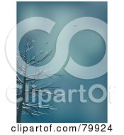 Royalty Free RF Stock Illustration Of Birds Circling High Above A Bare Tree In The Winter