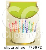 Vanilla Frosted Birthday Cake With Swirl Designs And Colorful Candles Under A Green Banner