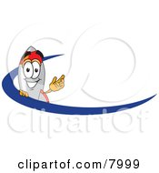 Clipart Picture Of A Rocket Mascot Cartoon Character With A Blue Dash