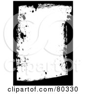 Royalty Free RF Clipart Illustration Of A Black And White Grungy Splatter And Smear Border by michaeltravers