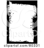 Royalty Free RF Clipart Illustration Of A Black And White Border Of Paint Strokes And Splatters