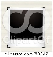 Royalty Free RF Clipart Illustration Of A Blank Polaroid Picture With Corner Clasps On Ruled Paper by michaeltravers