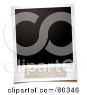 Royalty Free RF Clipart Illustration Of A Blank Polaroid Picture With Space For A Description by michaeltravers