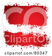Royalty Free RF Clipart Illustration Of A Digital Collage Of Grungy Red Ink Splattered Text Boxes