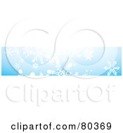 Royalty Free RF Stock Illustration Of A Blue Winter Snowflake Website Border