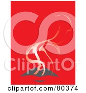 Royalty Free RF Stock Illustration Of Smoke Rising Out Of A Womans Mouth On Red