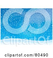 Royalty Free RF Clipart Illustration Of Snow Swirling In The Wind Over A Hill