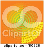Royalty Free RF Clipart Illustration Of An Orange Radar Circle Background by tdoes