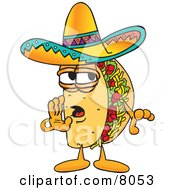 Clipart Picture Of A Taco Mascot Cartoon Character Whispering And Gossiping by Toons4Biz