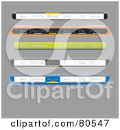 Royalty Free RF Clipart Illustration Of A Digital Collage Of Website Tab Menu Bars On Gray
