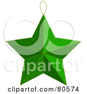 Green Christmas Tree Star Ornament