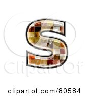 Grunge Texture Symbol Lowercase Letter S