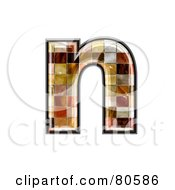 Grunge Texture Symbol Lowercase Letter N