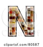 Grunge Texture Symbol Capitol Letter N