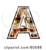 Royalty Free RF Clipart Illustration Of A Grunge Texture Symbol Capitol Letter A