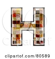 Ceramic Tile Symbol Capitol Letter H by chrisroll