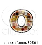Royalty Free RF Clipart Illustration Of A Grunge Texture Symbol Lowercase Letter O