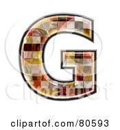 Ceramic Tile Symbol Capitol Letter G by chrisroll