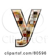 Royalty Free RF Clipart Illustration Of A Grunge Texture Symbol Lowercase Letter Y