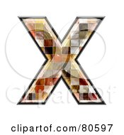 Ceramic Tile Symbol Capitol Letter X by chrisroll