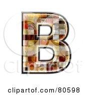 Grunge Texture Symbol Capitol Letter B