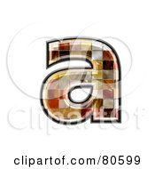 Ceramic Tile Symbol Lowercase Letter A by chrisroll