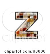 Ceramic Tile Symbol Lowercase Letter Z by chrisroll
