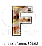 Royalty Free RF Clipart Illustration Of A Grunge Texture Symbol Capitol Letter F