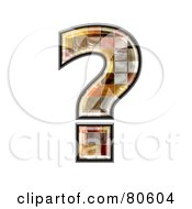 Royalty Free RF Clipart Illustration Of A Grunge Texture Symbol Question Mark