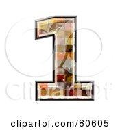 Grunge Texture Symbol Number 1