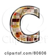 Royalty Free RF Clipart Illustration Of A Grunge Texture Symbol Capitol Letter C