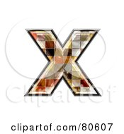 Grunge Texture Symbol Lowercase Letter X