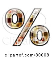 Royalty Free RF Clipart Illustration Of A Grunge Texture Symbol Percent