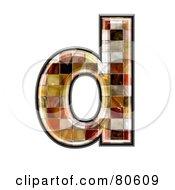 Grunge Texture Symbol Lowercase Letter D