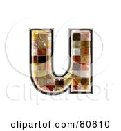 Ceramic Tile Symbol Lowercase Letter U by chrisroll