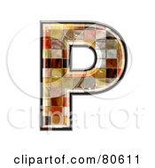 Royalty Free RF Clipart Illustration Of A Grunge Texture Symbol Capitol Letter P