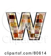 Royalty Free RF Clipart Illustration Of A Grunge Texture Symbol Lowercase Letter W