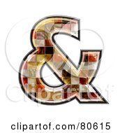 Royalty Free RF Clipart Illustration Of A Grunge Texture Symbol Ampersand