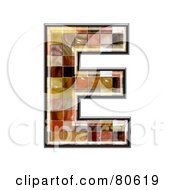 Ceramic Tile Symbol Capitol Letter E by chrisroll