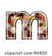 Ceramic Tile Symbol Lowercase Letter M by chrisroll