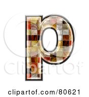 Ceramic Tile Symbol Lowercase Letter P by chrisroll
