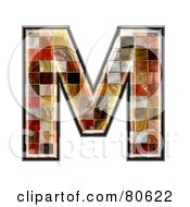 Ceramic Tile Symbol Capitol Letter M by chrisroll