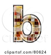 Grunge Texture Symbol Lowercase Letter B