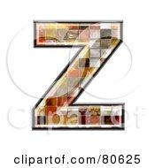 Grunge Texture Symbol Capitol Letter Z